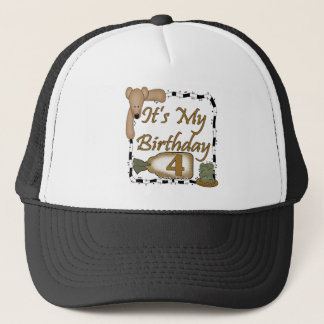 Happy Birthday Bear4th Birthday Gifts Trucker Hat