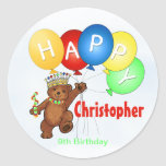 Happy Birthday Bear 9th Birthday Sticker