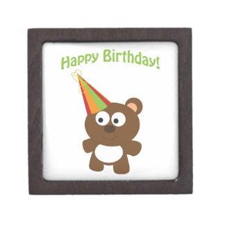 Happy Birthday Bear Jewelry Box