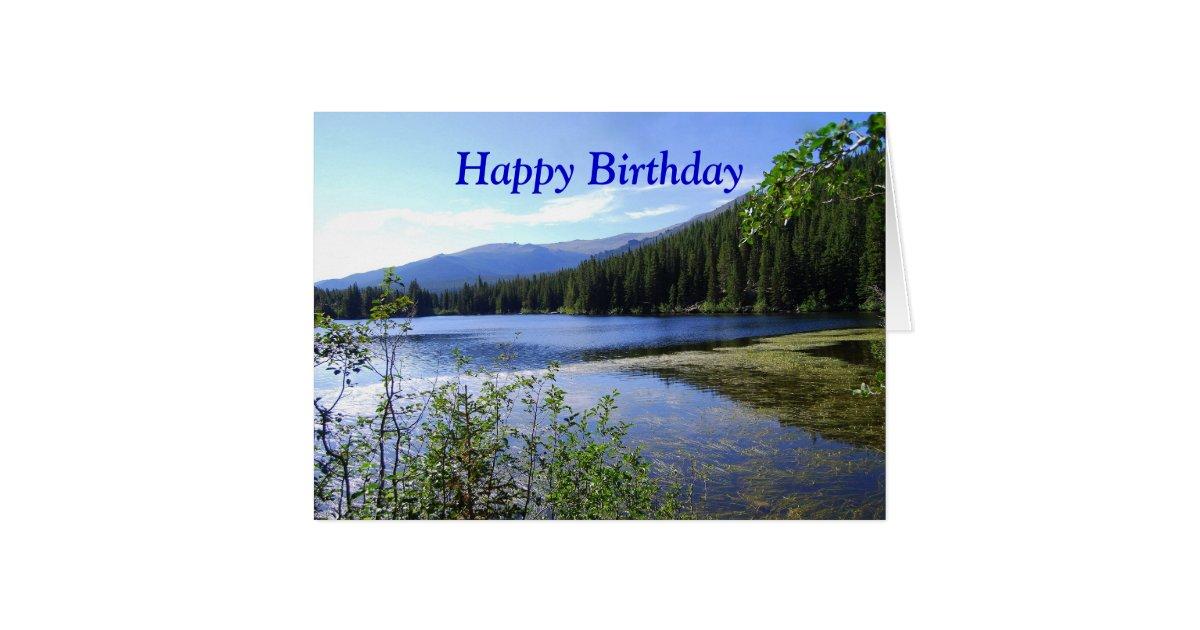 Happy Birthday Bear Lake Colorado Card Zazzle