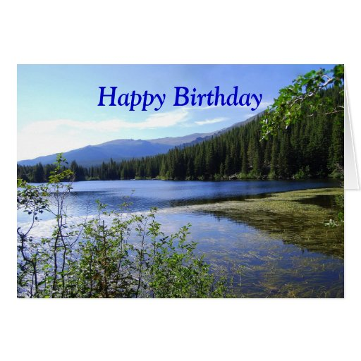 Happy Birthday Bear Lake Colorado Greeting Card Zazzle