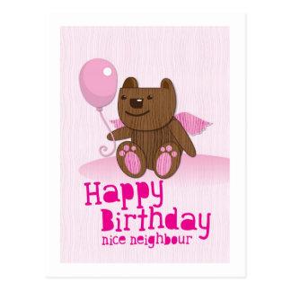 Happy birthday Bear Nice Neighbour Postcard