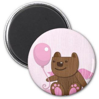 Happy Birthday Bear plain 2 Inch Round Magnet