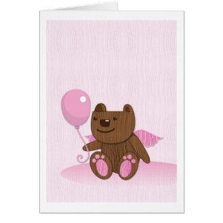 Happy Birthday Bear plain Card