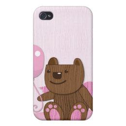 Happy Birthday Bear plain Case For iPhone 4