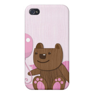 Happy Birthday Bear plain Case For iPhone 4