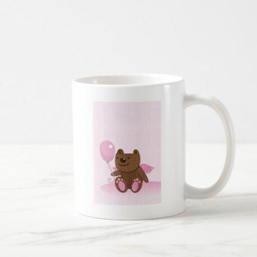 Happy Birthday Bear plain Coffee Mugs