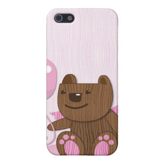 Happy Birthday Bear plain Cover For iPhone SE/5/5s