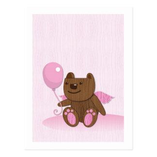 Happy Birthday Bear plain Postcard