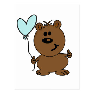 Happy Birthday Bear Postcard