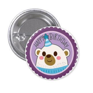 Happy Birthday Bear Sticker Button