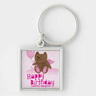 Happy Birthday Bear Sweetest Daughter! Key Chain