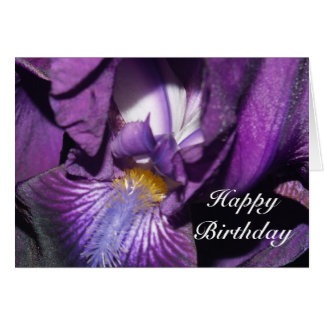 Happy Birthday Bearded Iris Card