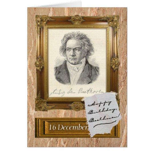 Happy Birthday, Beethoven Card