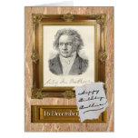 Happy Birthday, Beethoven Greeting Card