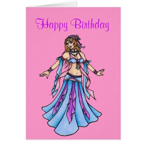 Happy Birthday  Belly Dance card