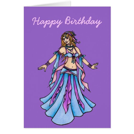 Happy Birthday Belly Dancer Card Zazzle Happy Birthday Wishes For A Dancer