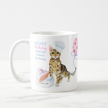 Happy Birthday Bengal Cat Mommy - Add Name Coffee Mug