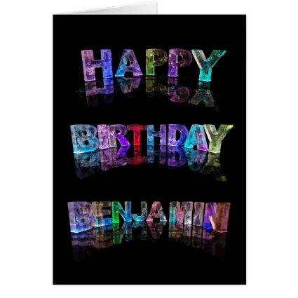 Happy Birthday Benjamin Card