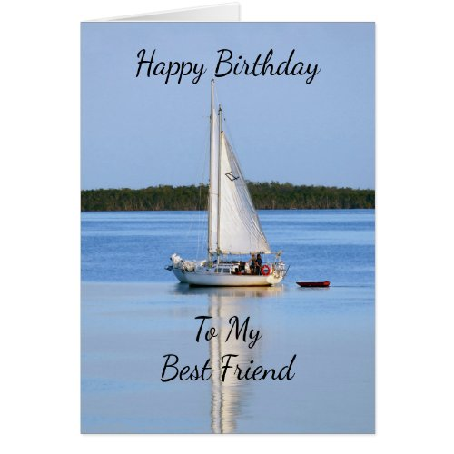 Happy Birthday Best Friend Side by Side Sailboats Card