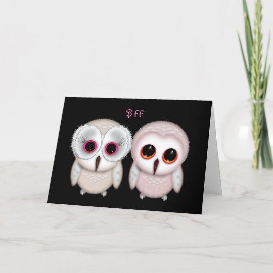 Happy Birthday Bff Owl Card Zazzle