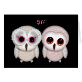 Happy Birthday BFF Owl Card