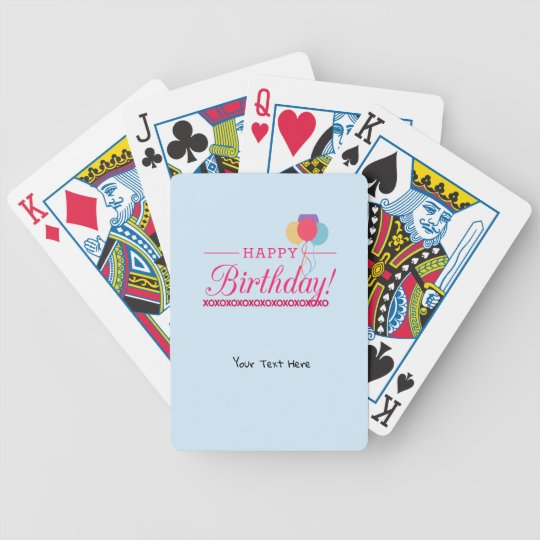 Happy Birthday Bicycle Playing Cards Zazzle