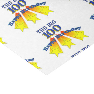 "Happy Birthday Big 100 10"" X 15"" Tissue Paper"