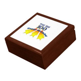 Happy Birthday Big 100 Keepsake Boxes