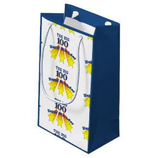 Happy Birthday Big 100 Small Gift Bag