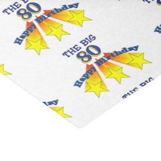 "Happy Birthday Big 80 10"" X 15"" Tissue Paper"