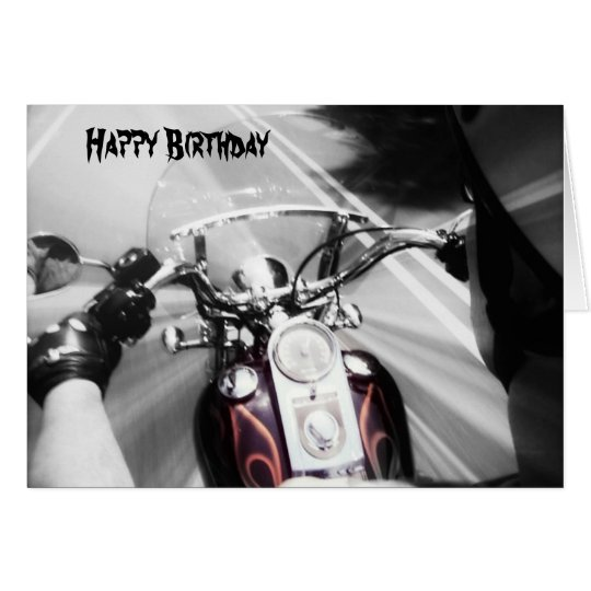 New Happy Birthday Biker Card
