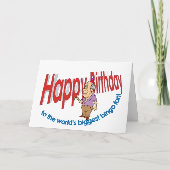 Happy Birthday Bingo Fan Card
