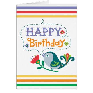 Happy Birthday Bird Cards