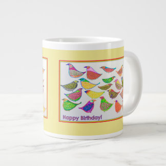 Happy Birthday Birdies! Large Coffee Mug