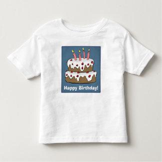 Happy Birthday - Birthday Cake Toddler T-Shirt