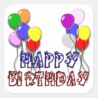 Happy Birthday - Birthday D5 Square Sticker