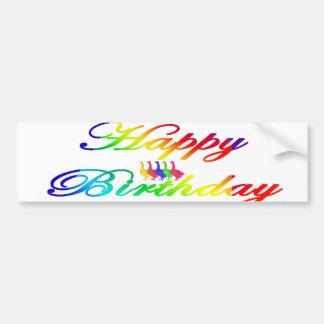 Happy Birthday Birthday Geese Bumper Sticker