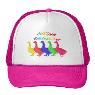 Happy Birthday Birthday Geese Hats