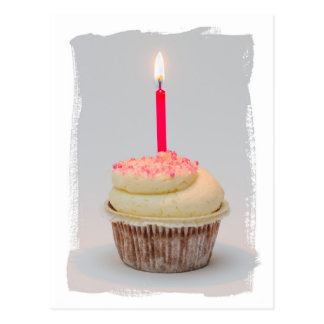 Happy Birthday, Birthday Girl Cupcake card Post Card