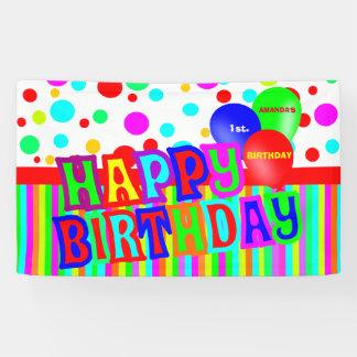Happy birthday, birthday party banner