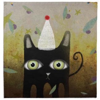 Happy birthday Black Cat American MoJo Napkin