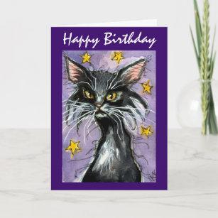 Black cat birthday cards zazzle happy birthday black cat greeting card m4hsunfo