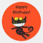 Happy Birthday! (black cat) Stickers