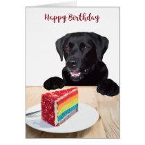 Happy Birthday Black Labrador Retriever - Cute Dog