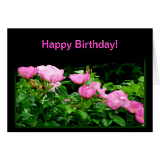 Happy Birthday-Black Rose Trail Card