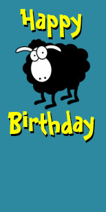 Happy Birthday Sheep Kitchen Dining Supplies Zazzle