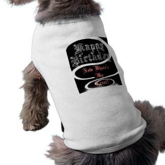 Happy Birthday Bling Treat Dog Pet Tee