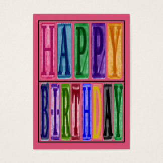 Happy Birthday Blocks Gift Tag