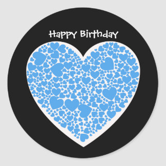Blue White Happy Birthday Gifts on Zazzle